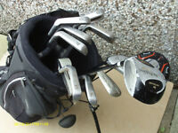 MENS RIGHT HAND GOLF CLUBS IN HIPPO STAND BAG