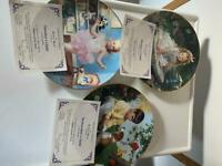 Set of 8 Danbury mint children of the week playes