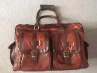 Leather hold-all bag