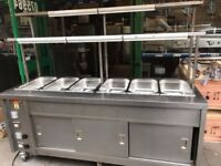 HOT FOOD WET BAIN MARIE HEATED LIGHTS UNDER HOT CUPBOARD CATERING COMMERCIAL KITCHEN FAST FOOD BAR