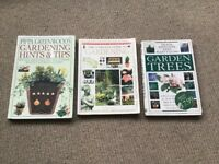 3 Garening books Hints & tips, complete guide, The Royal Horticultural society Garen trees