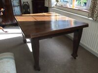 Antique Edwardian extendable dining table