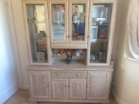 Beautiful cabinet. Solid wood. All lights working. Selling due to move.