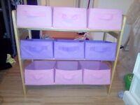 Wooden toy storage unit x