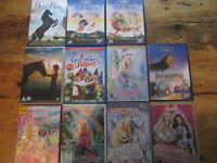 11 children's DVD's, 5 Barbie, 3 Walt Disney, 2 horse ones, Gnomeo and Juliet animation.