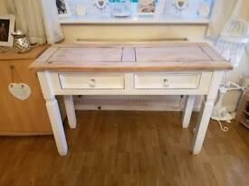 Pine shabby chic hall console table