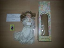 Knightsabridge Collection Angel Porcelain Doll