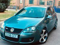VW GOLF 2.0 GTI TFSI DSG 2006/56 ONE OWNER FULL SERVICE RARE FULL LEATHER UPGRADED MONZA ALLOYS