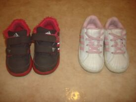 Adidas 2 pairs of trainers size 5 and 5.5