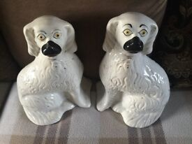 Pair of antique wally dugs