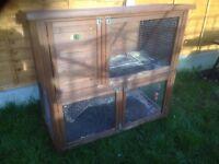 2 storey guinea pig hutch