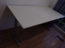White Large Ikea Desk - Adjustable height