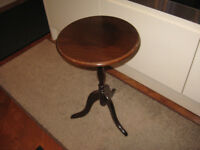 Small round wooden table