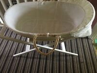 Moses basket & Stand includes matteress if needed