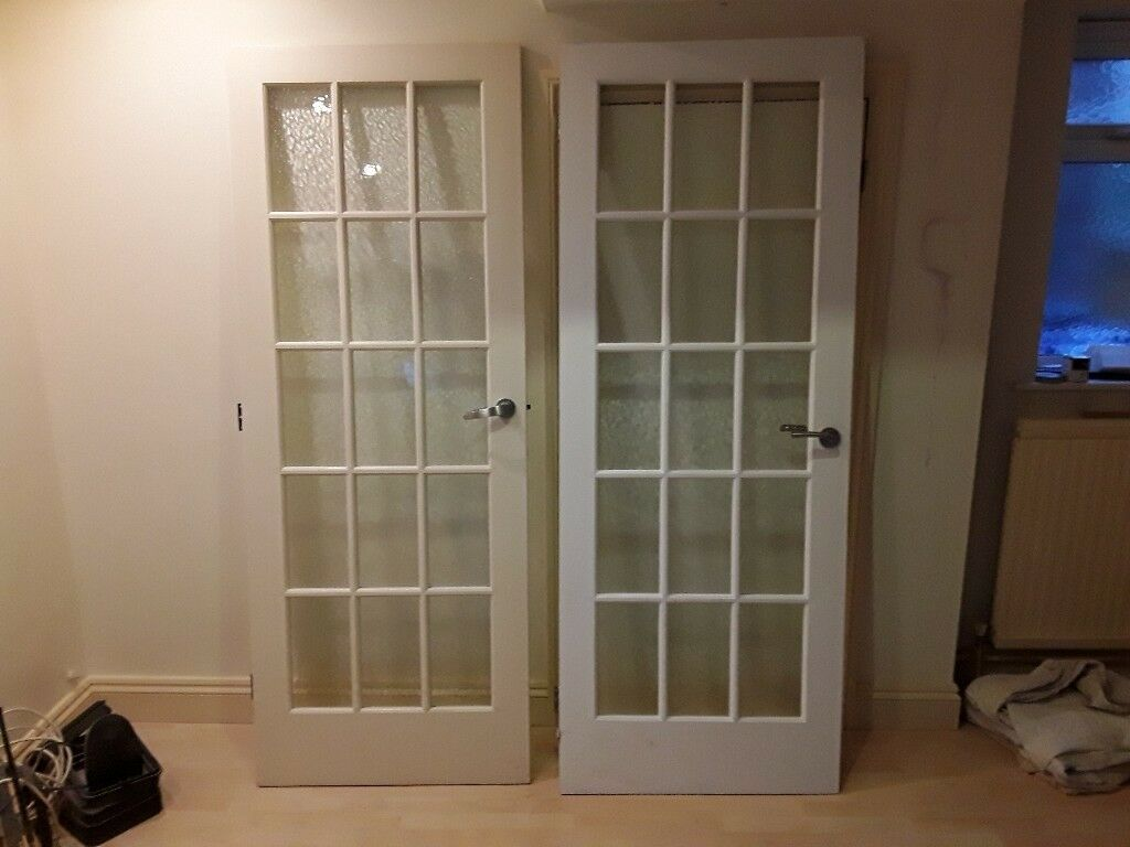 Two Internal Glazed Doors In Bury St Edmunds Suffolk