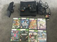 Xbox 360 Kinect Console Plus x2 controllers plus x8 games