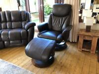 LAZYBOY® Swivel Recliner Armchair With Footrest Good Condition