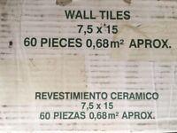 Revestimiento Ceramico 7.5 x 15 cm cream wall tiles