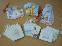 Job Lot of Christmas Winnie The Pooh Disney Gift Tags