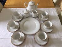 Noritake Teaset with matching Teapot, sugar and milk jug