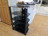 Sturdy Smoked Glass Audio Storage tower