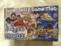 """BNIB """"MARBZ"""" Soccer, Super Skillz Game Mat, for 2 players or more. Age 5+. Unwanted gift!"""