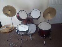 ** Bargain ** Full drum kit (need gone asap!!!) £100.00 MAKE ME AN OFFER!!!
