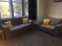 Sofa and Armchair - Light Grey