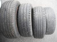 CITROEN BELINGO/PEUGEOT PARTNER,UP TO 2006,SET 4 STEEL WHEELS C/W TYRES 205/65/15 s,4 x 108 pcd