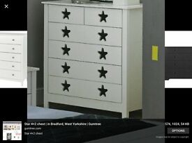 White star handles chest of drawers like new!
