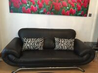 "# Faux Leather 3+2 Seater Sofa. "" Prestigous. Compfortable. So"