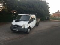Ford transit tipper 2008 starts runs well company owned