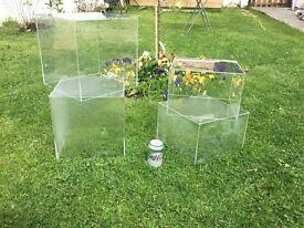 Perspex display cubes