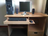 Multi purpose computer desk
