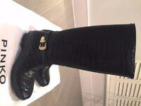 Black Pinko Wellington Boots, size 40/7