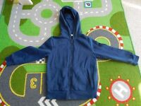 4 - 5 years navy tracksuit bottoms and navy hoodie