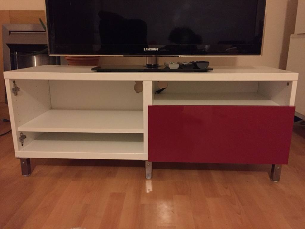 buy popular 41a1c 73219 White malm TV Stand with red panelled draw | in Croydon ...