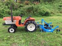 Kubota B1500 2WD Compact tractor with New 4ft Finishing Mower