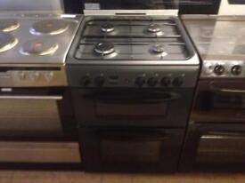 Indesit 60cm gas cooker (charcoal finish)