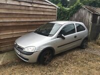 Vauxhall corsa 2002 1.2 spares or repairs