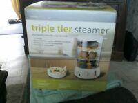 triple tier steamer