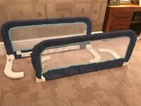 A Pair (2 off) of Safety 1st Portable Bed Rails Prevents Kids Toddler Falling out of Bed