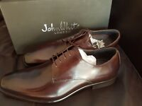 MENS JOHN WHITE BROWN LEATHER LACE UP SHOE SIZE 6, 8 & 9