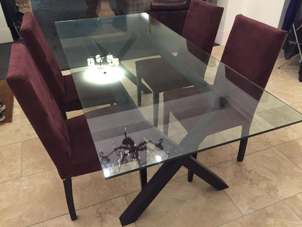 Habitat dublin table and 4 chairs in grays essex gumtree for Table habitat