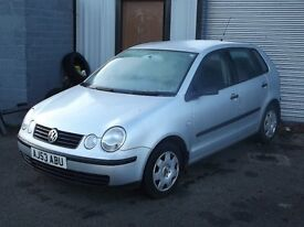 VW POLO 1.2 53 REG 73000 MILES 5 DR BARGAIN BUY EXCELLENT COND