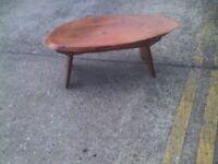 solid oak live edge coffee table