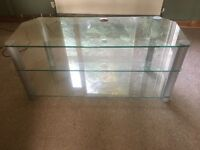 1.9 inch glass TV stand, great condition