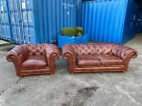 Beautiful Chesterfield Sofology Stamford 2.5 seater sofa & Club chair