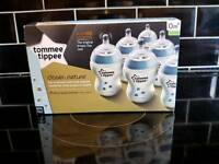 Tommee Tippee Closer to Nature Bottle Blue 6 Pack