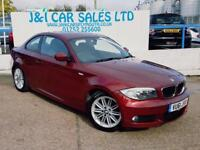 BMW 1 SERIES 2.0 118D M SPORT 2d 141 BHP A GREAT EXAMPLE INSIDE (red) 2011